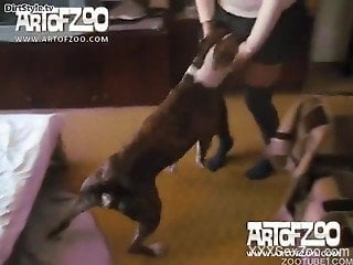 Trusty dog makes sure to fuck mature wife in great scenes