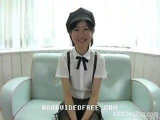 Sexy Japanese crazy scenes of real zoophilia