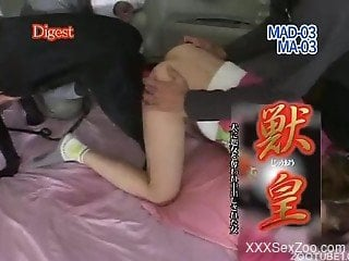 Asian girl enjoys nasty dog bestiality in the bedroom