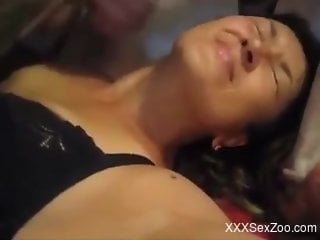 Brunette getting throated in a kinky porno movie