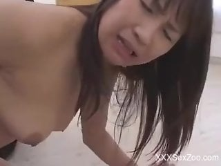 Doggy style fuck with a good-looking Japanese gal