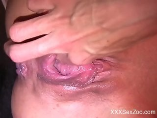 Worm porn movie with a worm-filled zoophile hole