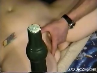 Helpless brunette enjoying hot sex with her dog and more
